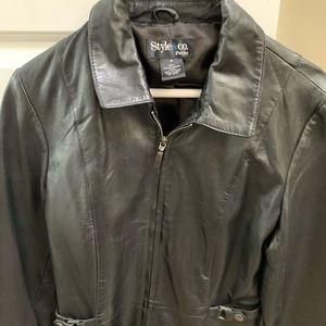 Style & Co leather Moto jacket